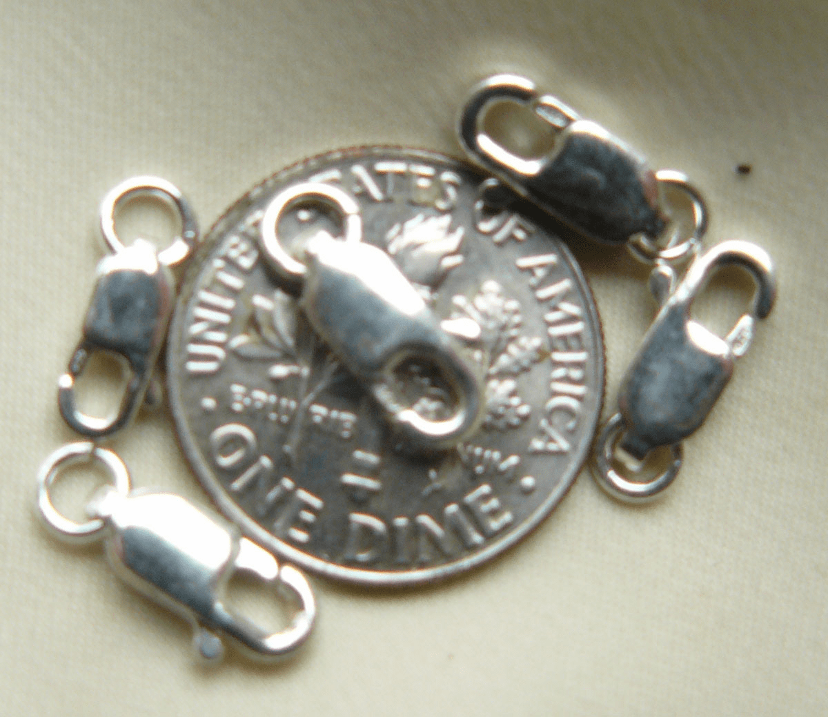 Sterling Silver Lobster Clasp 10mm 5 pieces SSF0102