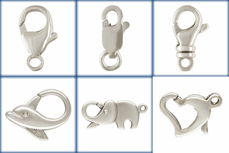 Lobster Claws and animal Clasps Sterling Silver -