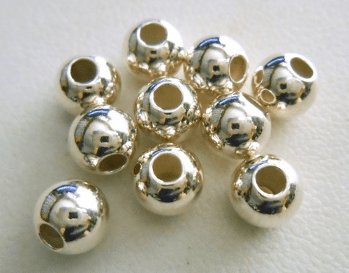 Sterling Silver Round Bead 6mm 10 Pieces SS-3000-6-10