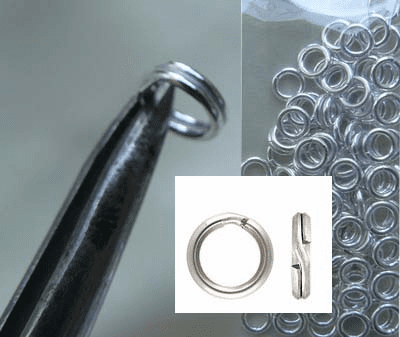 Sterling Silver Split Rings  5mm 25 Pieces SS-1001