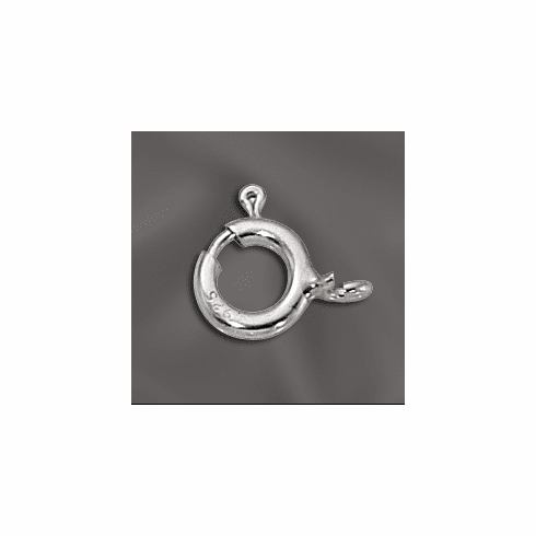 Sterling Silver Spring Ring 8mm with Open End 5 Pieces