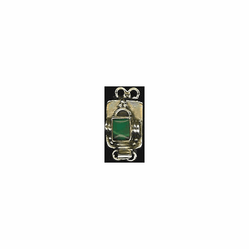 Sterling Two Strand Square Clasp With Assorted Gemstones