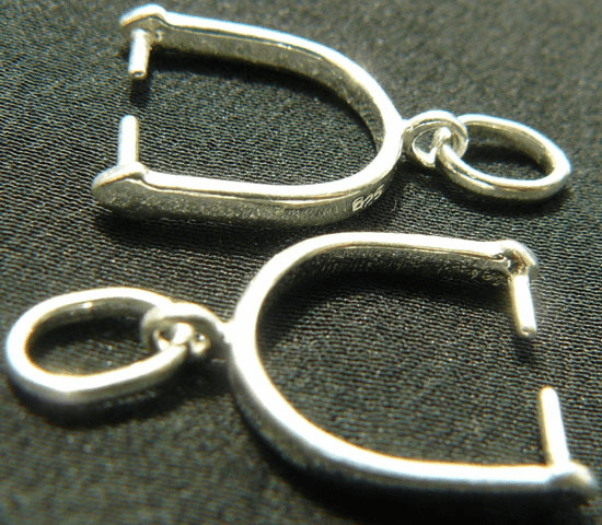 Stirrup Bail - 2 Bails - Sterling Silver<br>404829