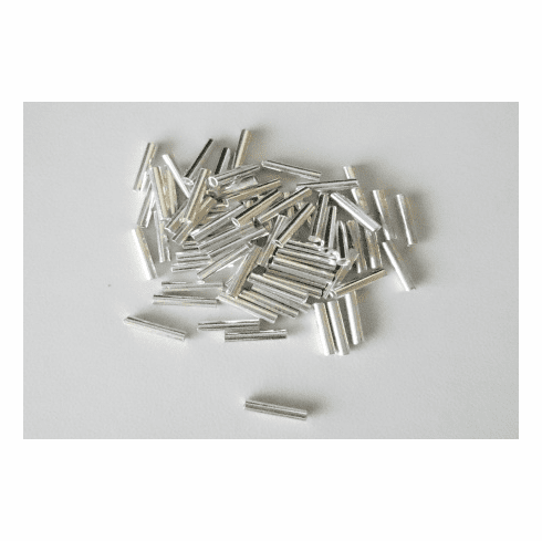 Straight Tube - 10mm - 72 Pieces - .999 Silver Over Copper <br> SCBK85