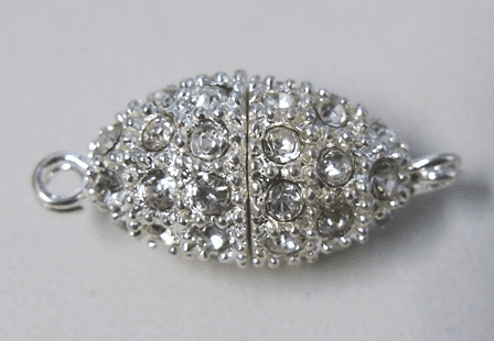 Studded Oval Magnetic Clasp