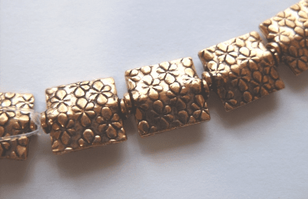 Textured Bead - 11x10mm - 17 Beads - Copper<br>CO1563