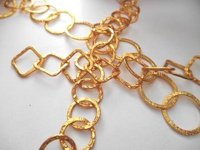 Textured Chain - 24kt Gold Over Copper -