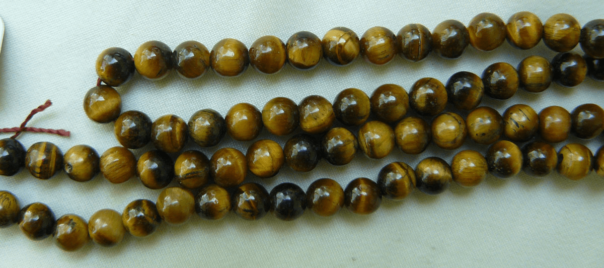 "Tiger Eye 6mm round Beads 16"" strands Flashy"