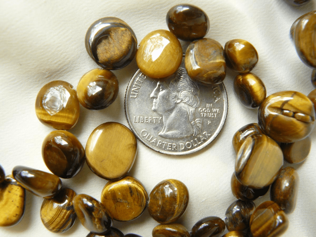 "Tiger Eye Beads 10-12x6mm Top Drilled 50 beads 16"" Strands"