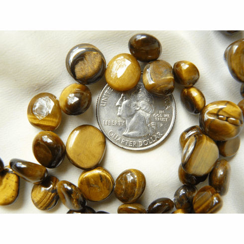"""Tiger Eye Beads 10-12x6mm Top Drilled 50 beads 16"""" Strands"""