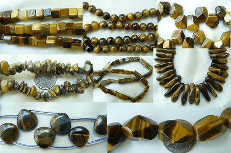 Tiger Eye and tiger Iron Beads - Round, Square, Chunky, Faceted etc.