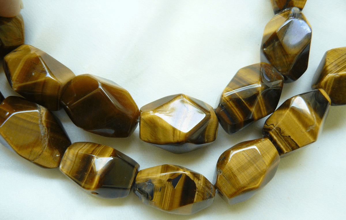 "Tiger Eye  Faceted Chunky beads 16"" strands avg. 20mm"