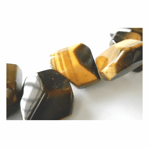 Tiger Eye - Faceted Top Drilled