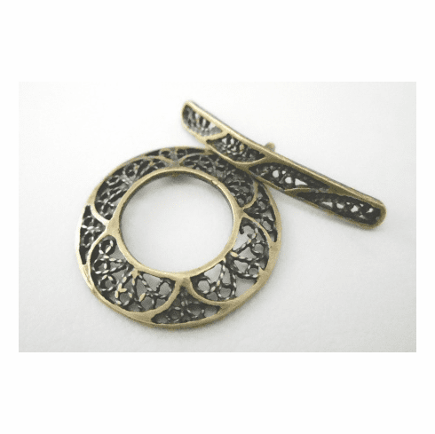 Toggle - 22mm - 1 Clasp - Brass<br>7175ABR