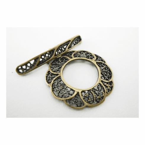Toggle - 23mm - 1 Clasp - Brass<br>7173ABR