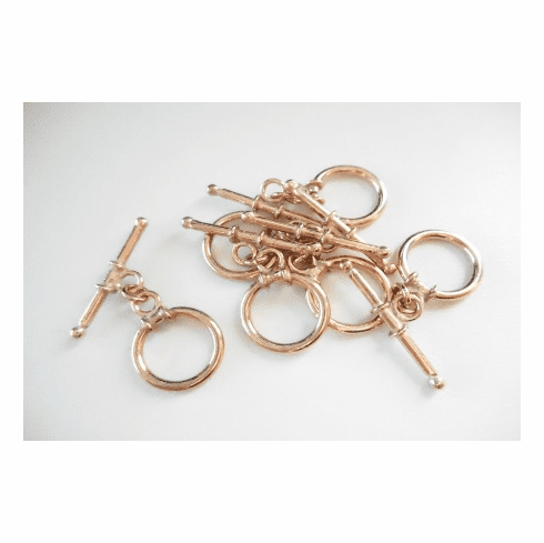 Toggle - 6 Pieces - 13x25mm - Rose Gold Over Copper<br>SIT02