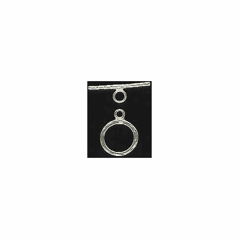 Toggle Clasp - 13mm w/ 20mm Bar - Sterling Silver<br>SS/4002