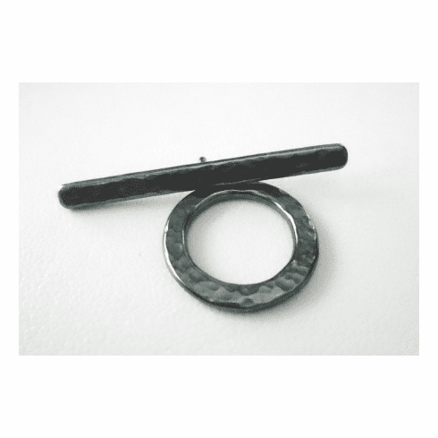 Toggle Plain with Textured Finish - 18mm w/ 35mm Bar - 1 Clasp - Gun Metal<br>6336GM