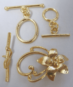 - Toggles - 24Kt. Gold Over Copper