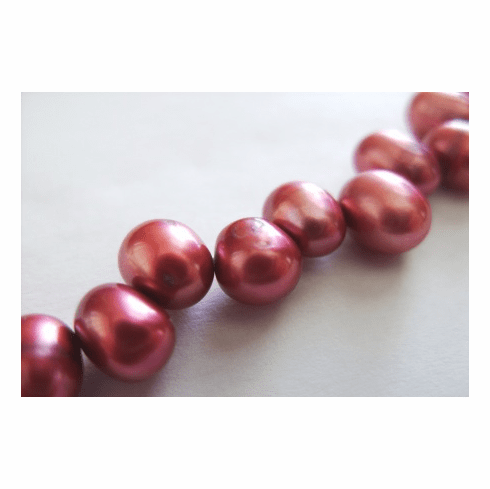 Top Drilled Plum Red Fresh Water Pearl