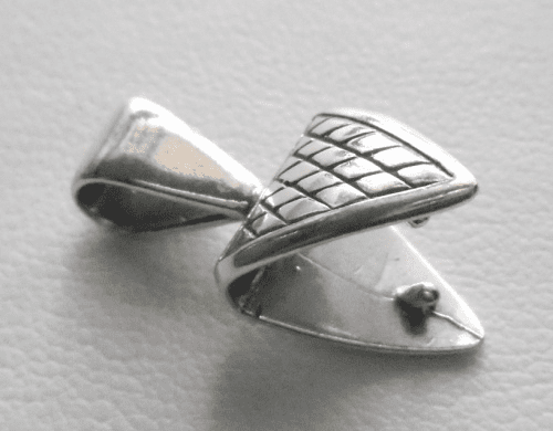 Triangle Bail - 11x22mm - 1 Bail - Sterling Silver<br>SS-B-4048109