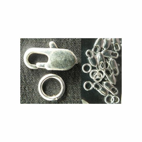Trigger Clasp - 10mm - 16 Clasps - .999 Silver Over Copper<br>SCLC10