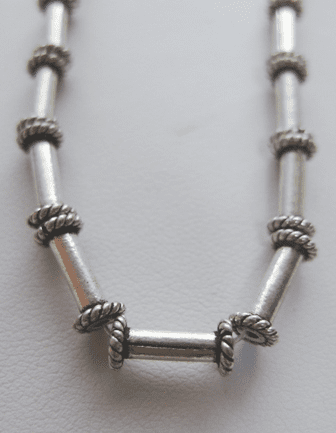 Tube Bali-Style Bead - 10x2mm - 20 beads - .999 Pure Silver Over Copper