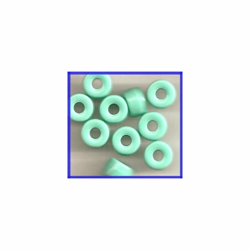 Turquoise Crow Roller Beads