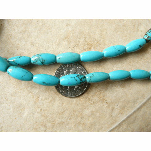 """Turquoise Tube Beads smooth 5x12mm 16"""" Strands"""