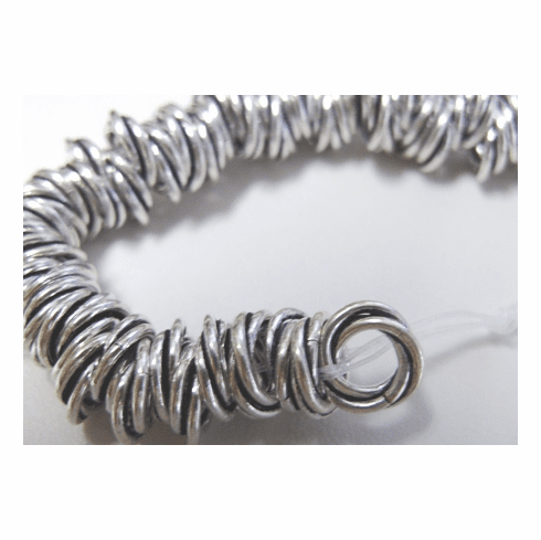 Twisted Rings 10mm .999 Silver Over Copper SCBK28-10
