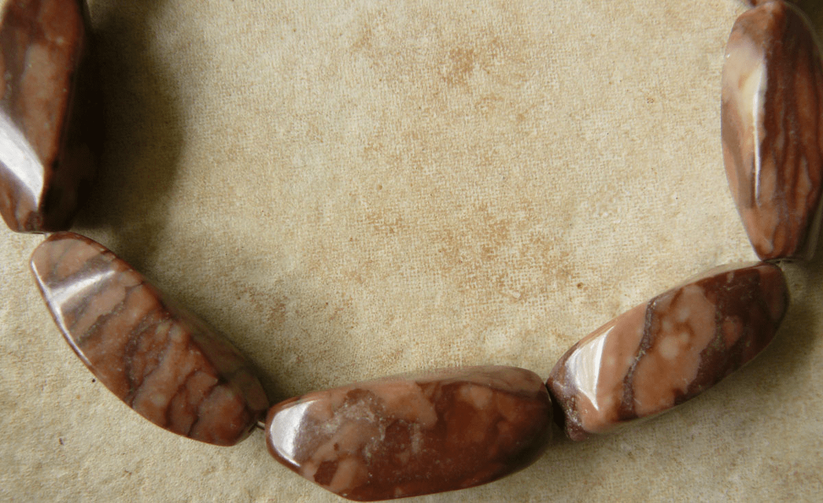 """Twisted Tube Carved Coco Jasper Beads 12x20mm 16"""" Strands"""