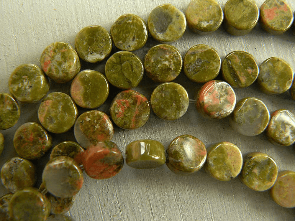 Unakite Beads Coin Shape 3x6mm 16