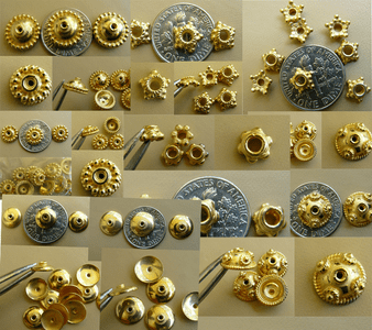 Vermeil Bead Caps Gold over Sterling Silver