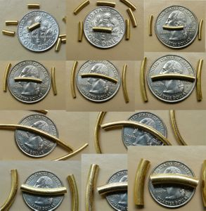 Curved Tubes - Vermeil -Gold over Sterling Silver