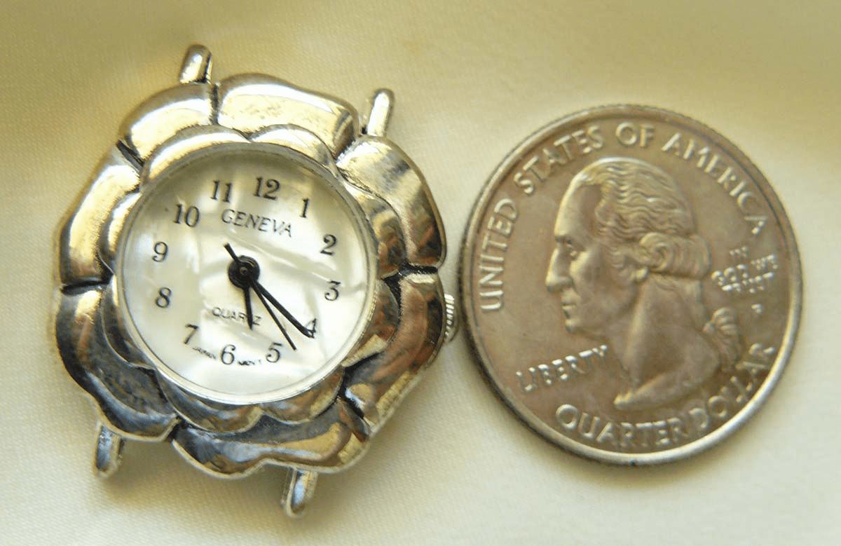 Watch Face 25mm with silver soft pillow look