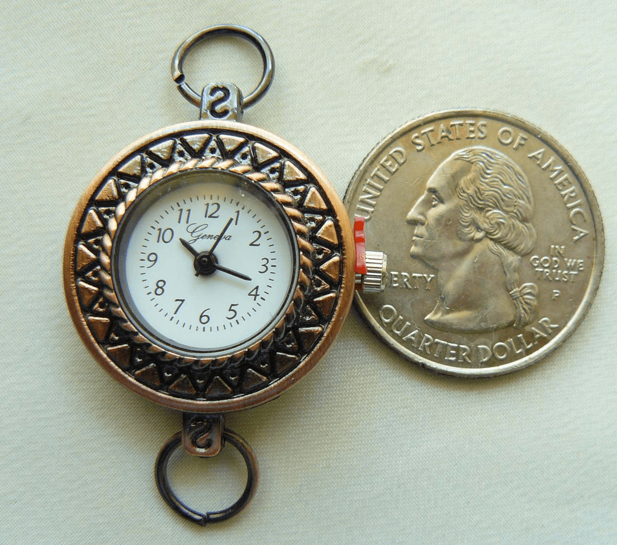 Watch Face with Bronze copper design 25mm