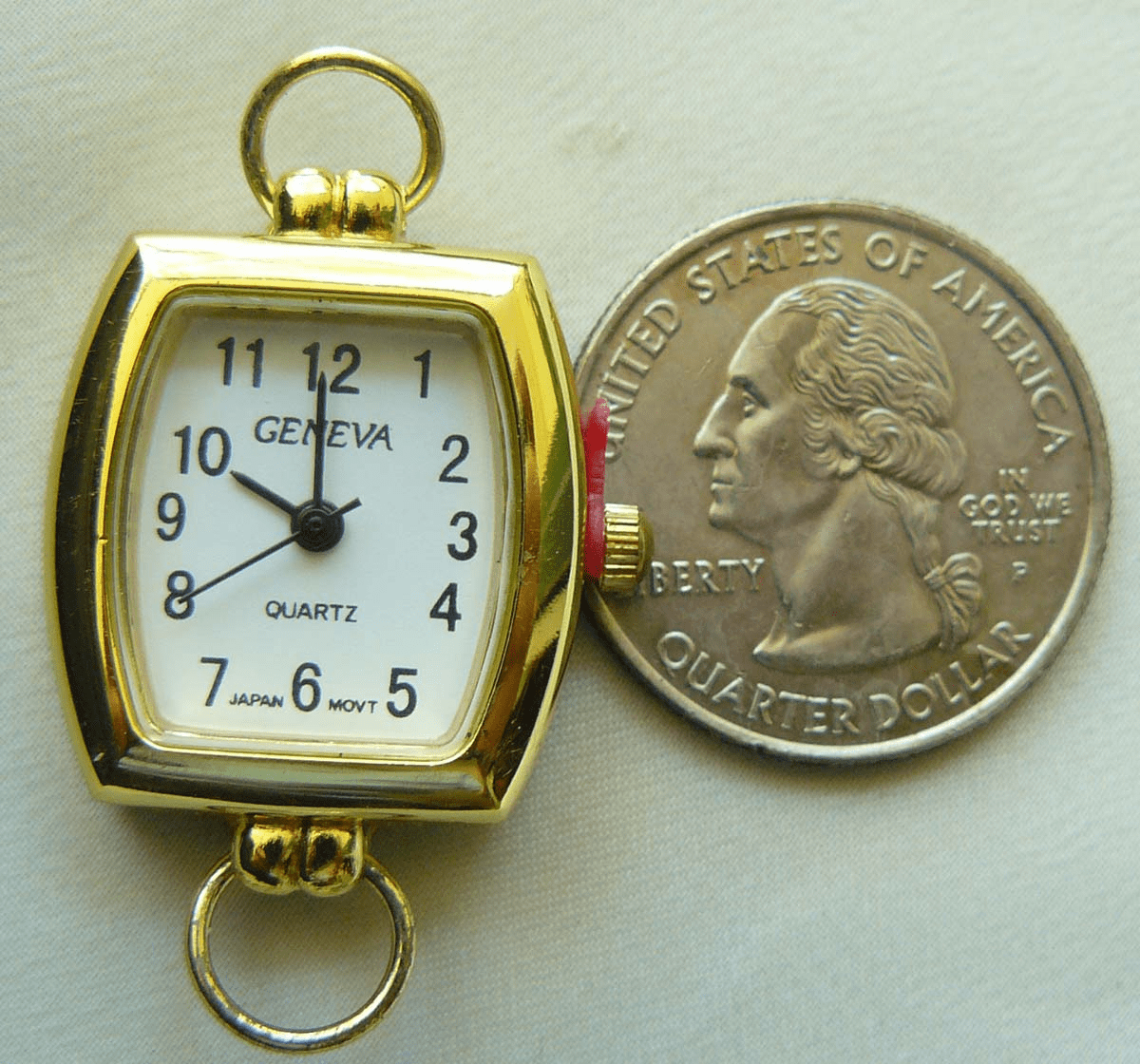 Watch Face with Gold Case and Japanese movements 20x22mm