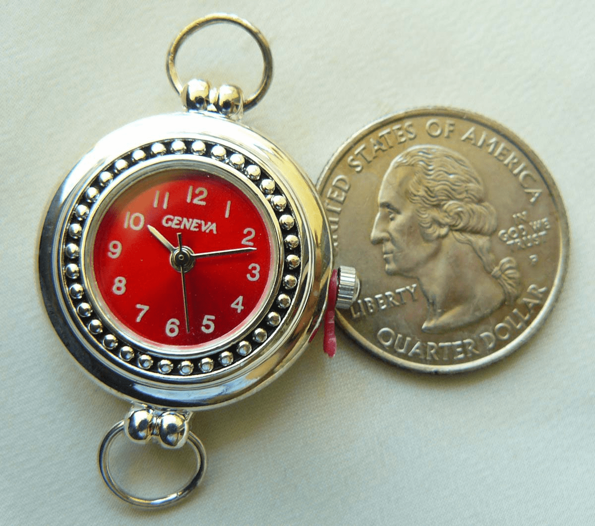 Watch Face with Red glowing Face and dot detail 25mm