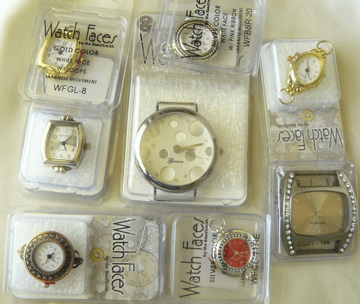 Watch Faces ready to bead around with Japanese movements and kids watches