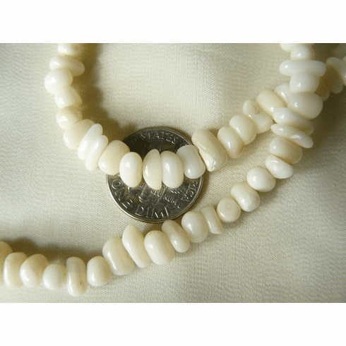 """White Coral Smooth Chip Beads 16"""" strand"""