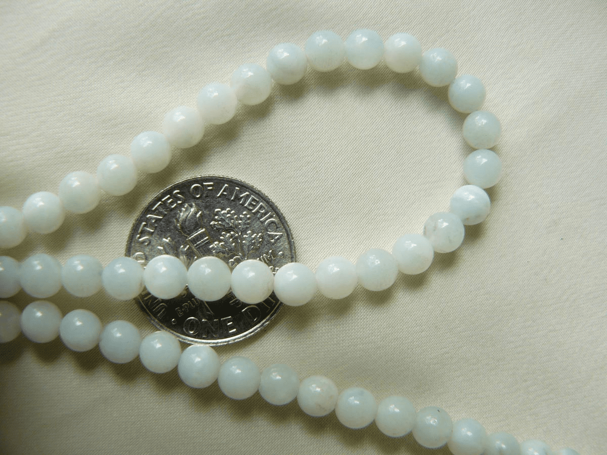"White Jade Beads 4mm 16"" Strands"