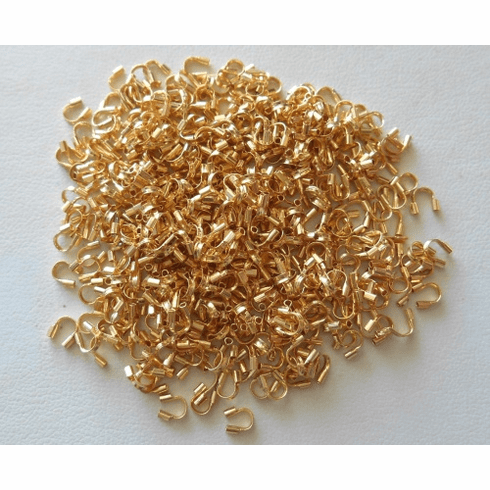 Wire Guards - 4x4mm - 450 Pieces - 24Kt. Gold Over Copper<br>GCBKWG
