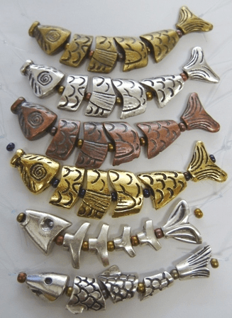 Worry Fish segmented Choose your Metal