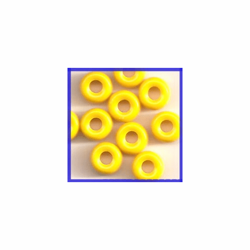 Yellow Crow Roller Beads