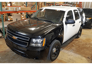 SOLD 2012 Chevy Tahoe Black and White SUV