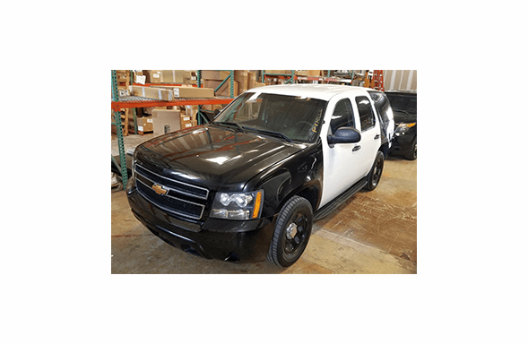 2012 Chevy Tahoe Black and White SUV