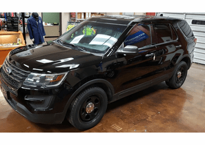 SOLD 2016 Ford Poilice Interceptor Utility 70K Black 1FM5K8AR6GGC36306