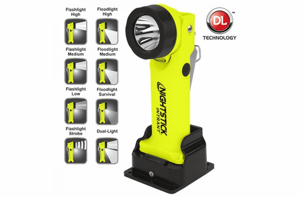 NightStick INTRANT™ Intrinsically Safe Permissible Dual-Ligh Angle Light Rechargeable - Green XPR-5568GX