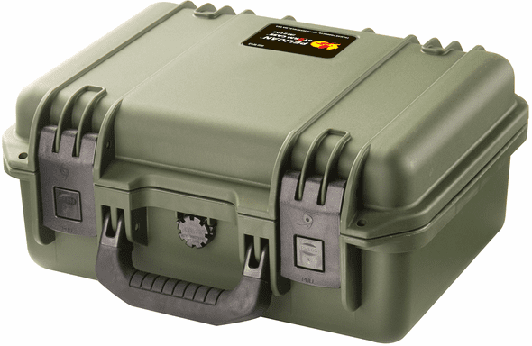 Pelican Storm Case iM2100  With Padded Dividers GREEN