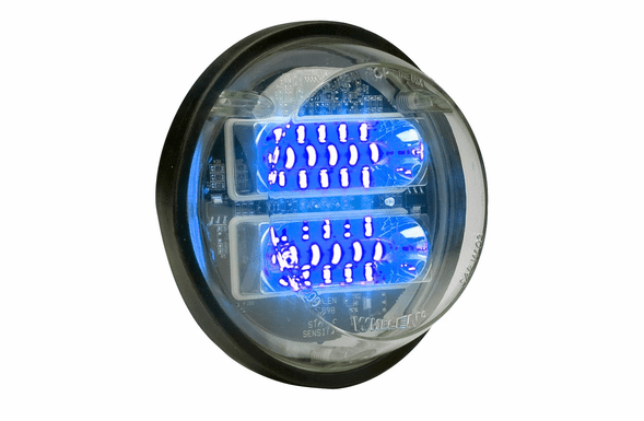 Whelen Round Super-LED Clear Extended Lens - Blue LED